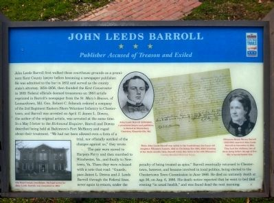 John Leeds Barroll Marker Photo, Click for full size