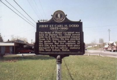 First Lt. Carl H. Dodd Marker image. Click for full size.