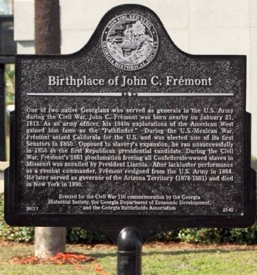 Birthplace of John C. Frémont Marker image. Click for full size.