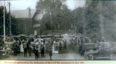 Civil War Monument Dedication image. Click for full size.
