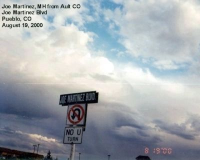 Pvt. Joe Martinez Road Sign in Pueblo, CO. image. Click for full size.