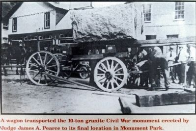Transporting the Civil War Monument image. Click for full size.