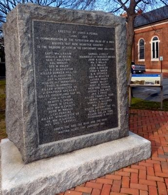 "Civil War Monument and the ""White & Black, Blue & Gray"" Marker image. Click for full size."