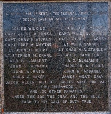 Civil War Monument Marker -- Union Names image. Click for full size.