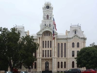 Hill County Courthouse with Bell Tower, as mentioned, South side view image. Click for full size.