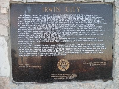 Irwin City Marker Photo, Click for full size
