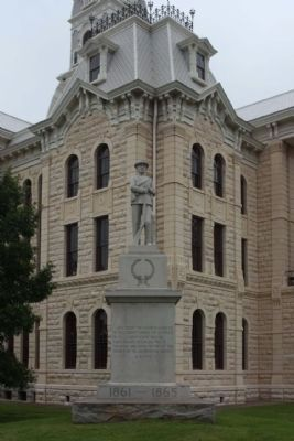 Hill County Courthouse and Confederate Monument, southeast grounds image. Click for full size.