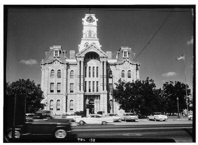 Hill County Courthouse Historic American Engineering Record: Habs Tex,109-Hilbo,1--2 image. Click for full size.