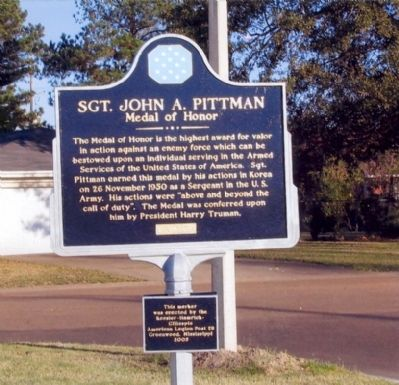 Sgt. John A. Pittman Marker image. Click for full size.