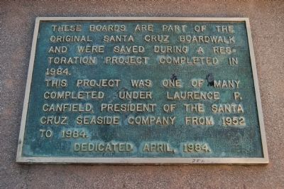 Santa Cruz Beach Boardwalk Boards Marker image. Click for full size.