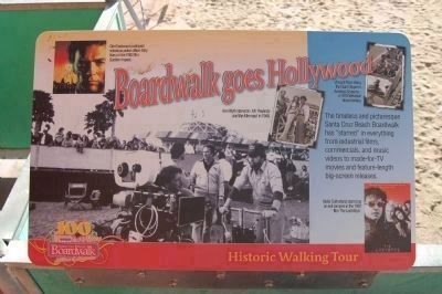 Boardwalk Goes Hollywood Marker image. Click for full size.