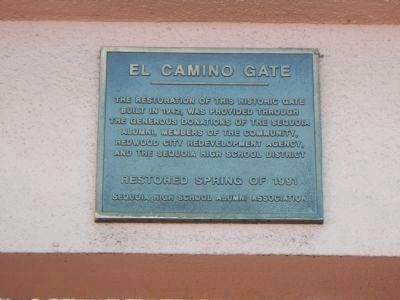 El Camino Gate Marker image. Click for full size.