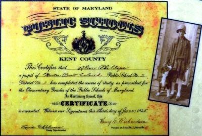 Alice Phillips Saunders' Graduation Certificate image. Click for full size.