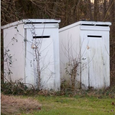 Outhouses at the African American Schoolhouse image. Click for full size.
