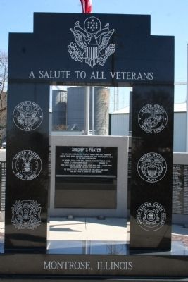 A Salute to All Veterans Marker image. Click for full size.