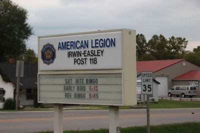 American Legion Post 118 sign image. Click for full size.