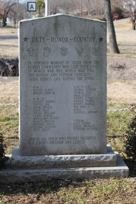 Duty, Honor, County Marker Photo, Click for full size