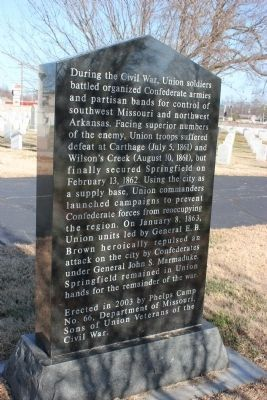 In Memory of Union Soldier (back) image. Click for full size.