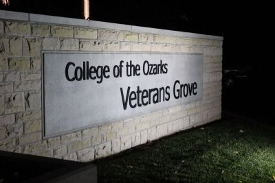 College of the Ozarks Veterans Grove Marker image. Click for full size.