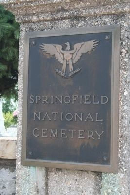 Springfield National Cemetery sign image. Click for full size.