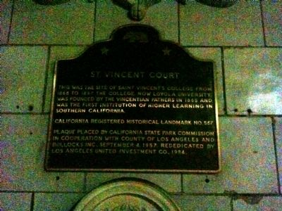 St. Vincent's Place Marker image. Click for full size.