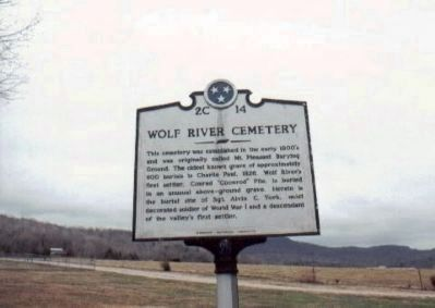 Wolf River Cemetery Marker Photo, Click for full size