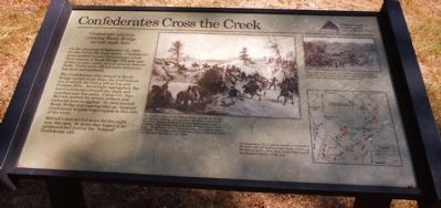 Confederates Cross the Creek Marker image. Click for full size.