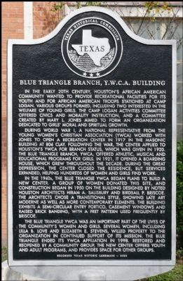 Blue Triangle Branch, Y. W. C. A. Building Marker image. Click for full size.