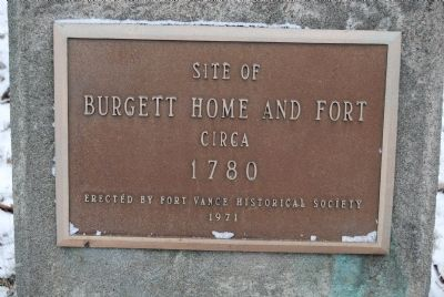 Site of Burgett Home and Fort Marker image. Click for full size.