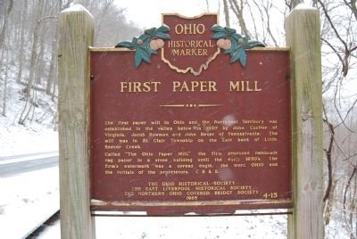 First Paper Mill Marker image. Click for full size.