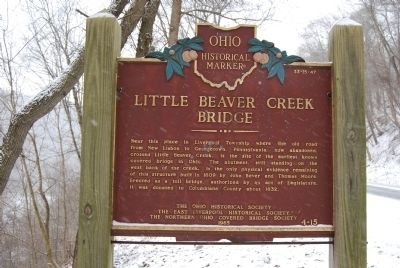 Little Beaver Creek Bridge Marker image. Click for full size.