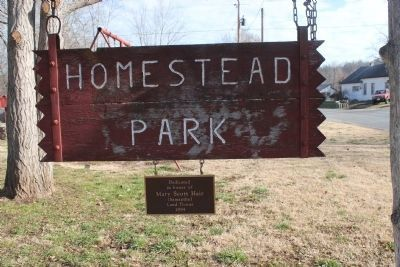 Homestead Park sign Photo, Click for full size