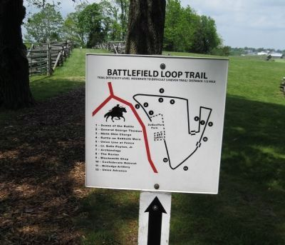 Battlefield Loop Trail Markers image. Click for full size.
