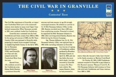 Civil War in Granville Marker image. Click for full size.