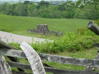 Site of the Bayonet Charge by the 9th Ohio image. Click for full size.