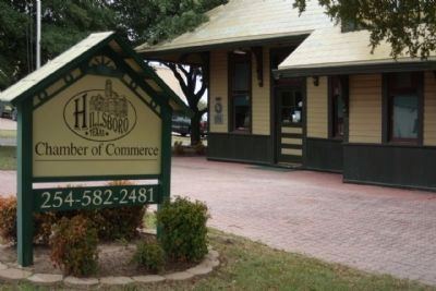 Katy Depot and Markers, now houses the Hillsboro Chamber of Commerce image. Click for full size.