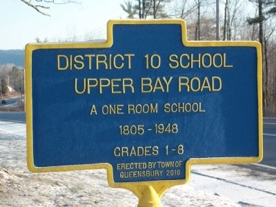 District 10 School Marker image. Click for full size.