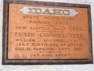 Idaho State Penitentiary Marker image. Click for full size.