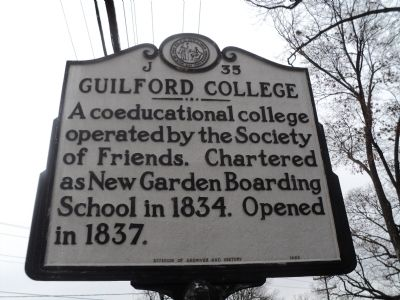 Guilford College Marker image. Click for full size.