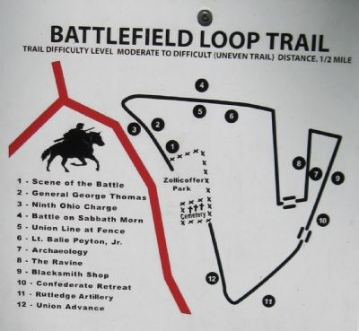 Battlefield Loop Trail Map image. Click for full size.
