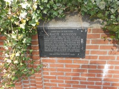 Gracie Mansion Marker image. Click for full size.