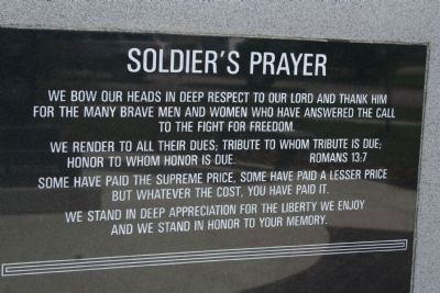 Soldier's Prayer image. Click for full size.