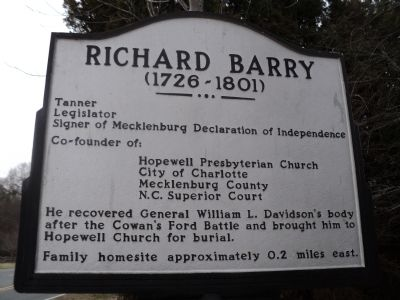 Richard Barry Marker image. Click for full size.