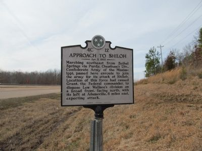 Approach to Shiloh Marker image. Click for full size.