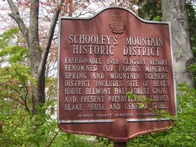 Schooley's Mountain Historic District Marker image. Click for full size.