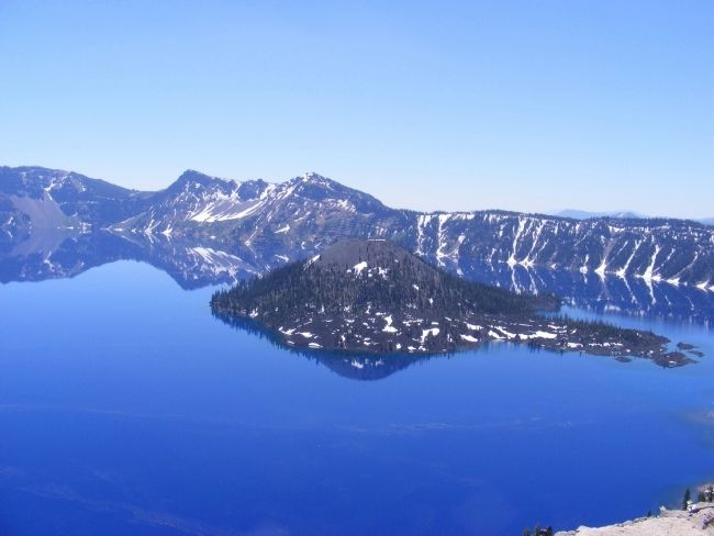 Wizard Island - Crater Lake image. Click for full size.