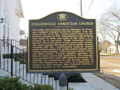 Collierville Christian Church Marker image. Click for full size.