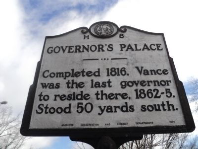 Governor's Palace Marker image. Click for full size.