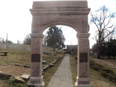 Confederate Section of Oakwood Cemetery image. Click for full size.