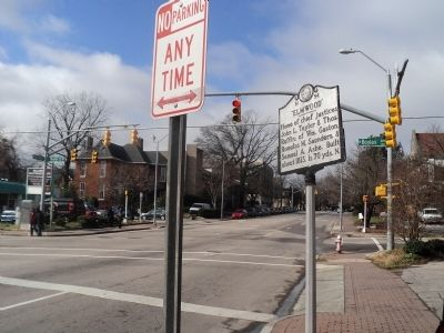 Marker on Hillsborough Street image. Click for full size.